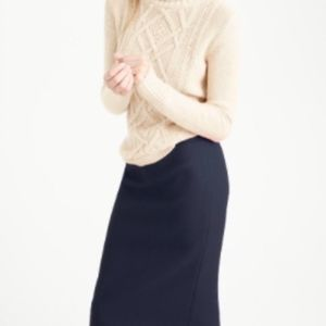 J. Crew No. 2 Pencil Skirt in Navy